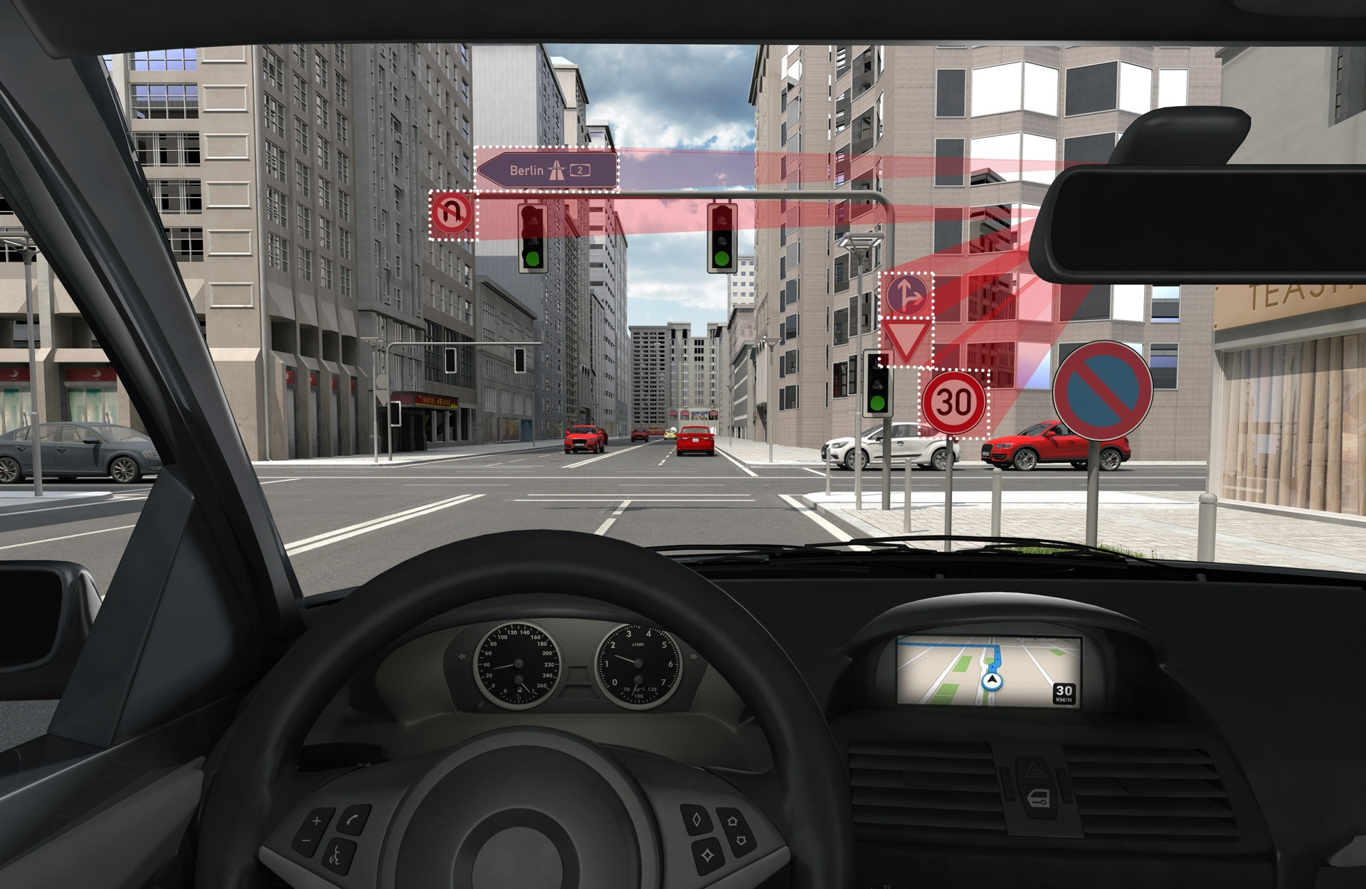 Camera-based traffic sign recognition in traffic.