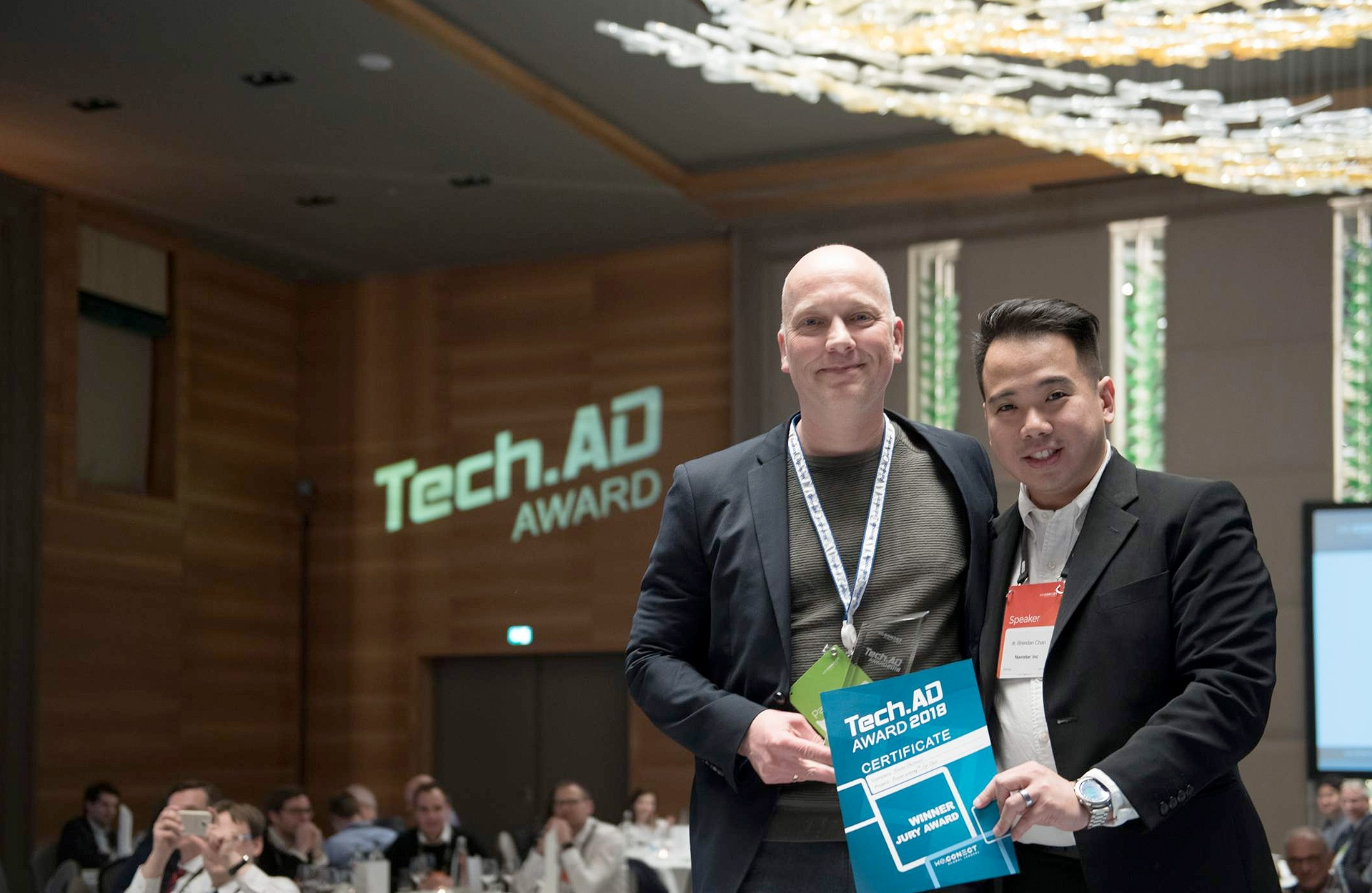 Employees with the award of the Tech.AD Special Jury Award 2018.