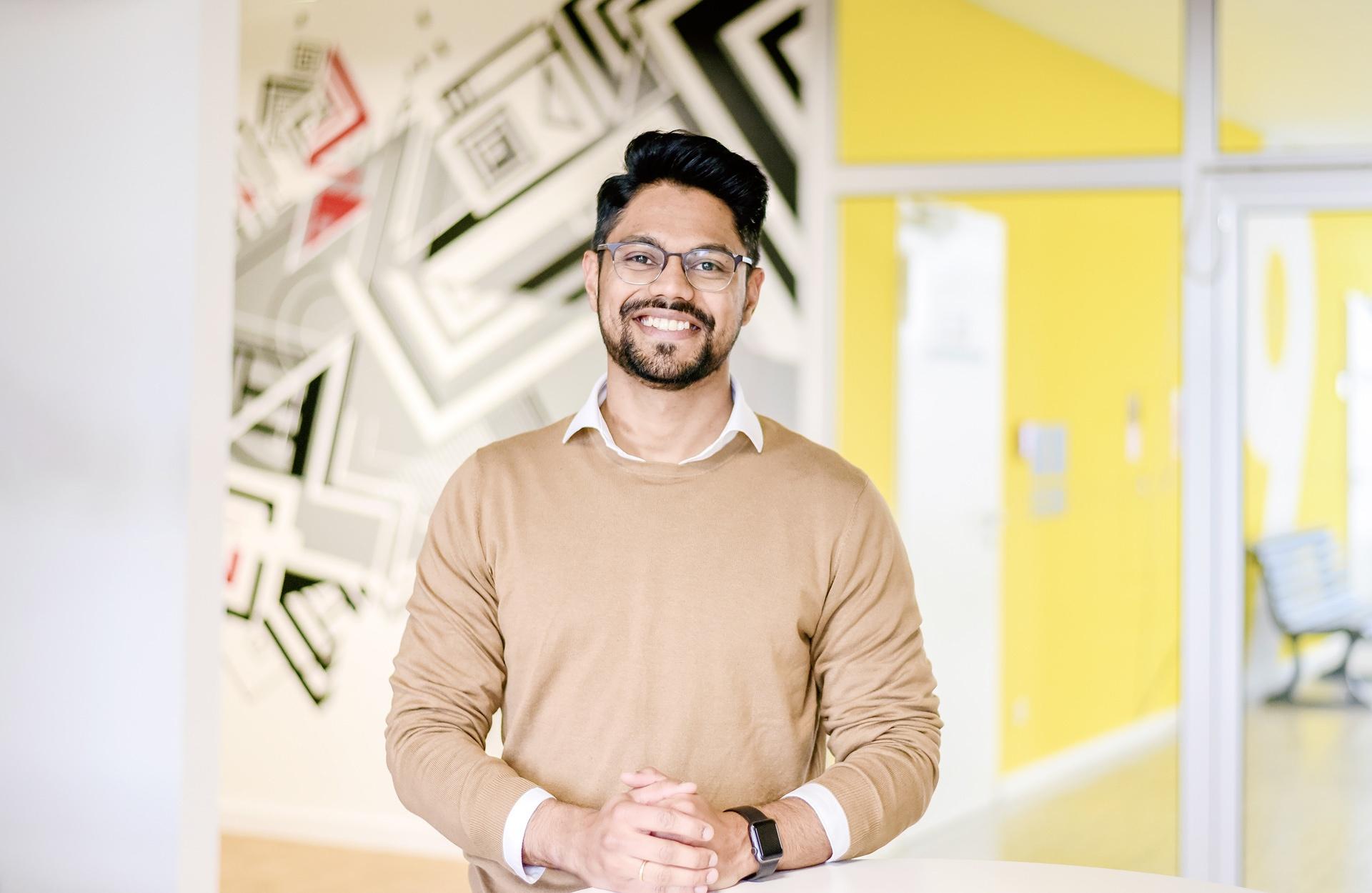 Portrait of Pulkit Vijay, Innovation Manager at HELLA Aglaia.
