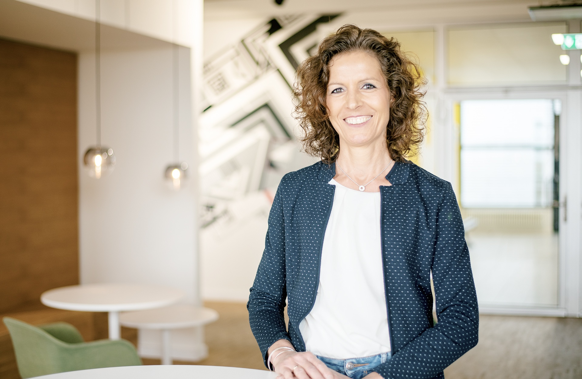 Portrait of Kerstin Thiemann, team leader in the energy management department.